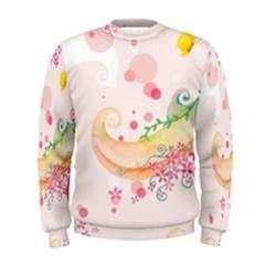 Curl Butterfly Flowers Men s Sweatshirt