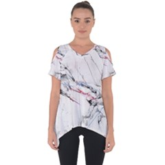 Line Color Background  Cut Out Side Drop Tee