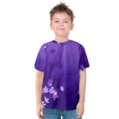 Flowers Plants Lines  Kids  Cotton Tee
