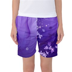 Flowers Plants Lines  Women s Basketball Shorts