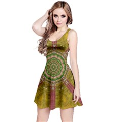 Mandala In Metal And Pearls Reversible Sleeveless Dress