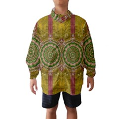 Mandala In Metal And Pearls Wind Breaker (kids)