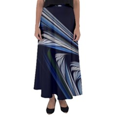 Stripes Waves Bright  Flared Maxi Skirt