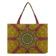 Mandala In Metal And Pearls Medium Tote Bag