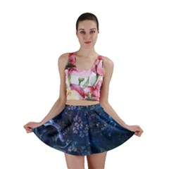 Fractal Line Pattern  Mini Skirt