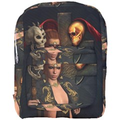 The Dark Side, Women With Skulls In The Night Full Print Backpack