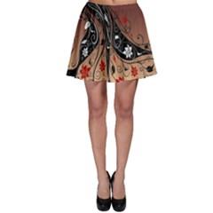 Girl Face Hair  Skater Skirt