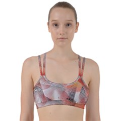 Lines Dots Background  Line Them Up Sports Bra