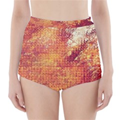 Surface Points Dirt  High Waisted Bikini Bottoms