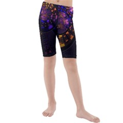 Circles Background Pattern  Kids  Mid Length Swim Shorts