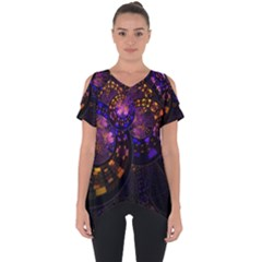 Circles Background Pattern  Cut Out Side Drop Tee