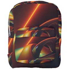 Line Figure Background  Full Print Backpack