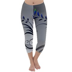 Patterns Lines Colorful  Capri Winter Leggings