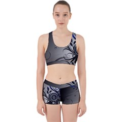 Patterns Lines Colorful  Work It Out Sports Bra Set