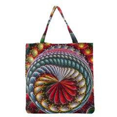 Circles Lines Background  Grocery Tote Bag