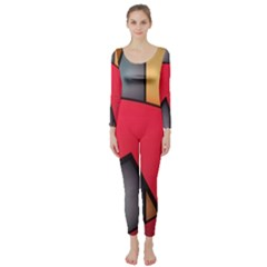 Patterns Lines Surface  Long Sleeve Catsuit