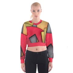 Patterns Lines Surface  Cropped Sweatshirt