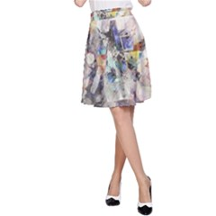 Surface Dark Colorful  A Line Skirt