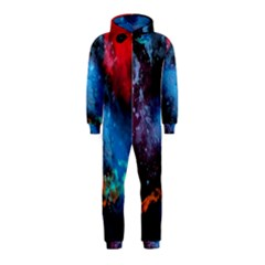 Stains Paint Background  Hooded Jumpsuit (kids)