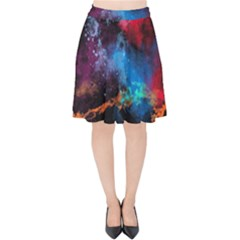 Stains Paint Background  Velvet High Waist Skirt