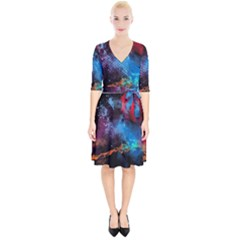 Stains Paint Background  Wrap Up Cocktail Dress
