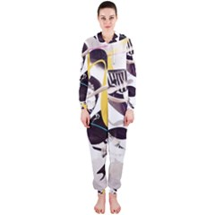 Surrealism Paint Animal  Hooded Jumpsuit (ladies)