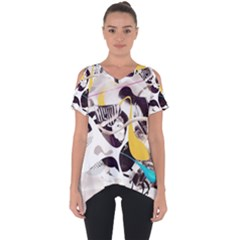 Surrealism Paint Animal  Cut Out Side Drop Tee