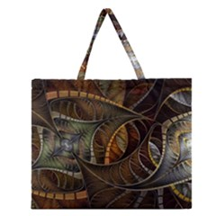 Mosaics Stained Glass Colorful  Zipper Large Tote Bag