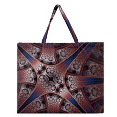 Lines Patterns Background  Zipper Large Tote Bag