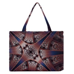 Lines Patterns Background  Zipper Medium Tote Bag