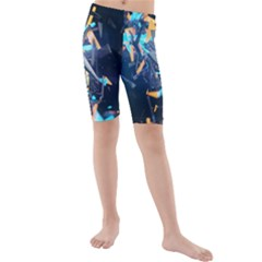 Explosion Bright Light  Kids  Mid Length Swim Shorts