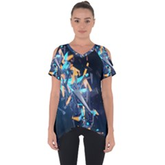 Explosion Bright Light  Cut Out Side Drop Tee