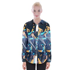Explosion Bright Light  Womens Long Sleeve Shirt