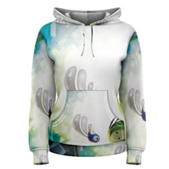 Flower Sprout Background  Women s Pullover Hoodie