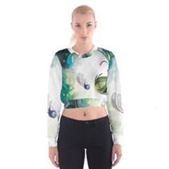 Flower Sprout Background  Cropped Sweatshirt