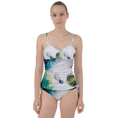 Flower Sprout Background  Sweetheart Tankini Set
