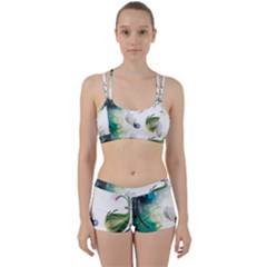 Flower Sprout Background  Women s Sports Set