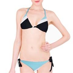 Lines Wavy Strip  Bikini Set