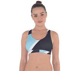 Lines Wavy Strip  Cross String Back Sports Bra