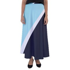 Lines Wavy Strip  Flared Maxi Skirt