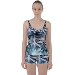 Explosion Background Dark  Tie Front Two Piece Tankini