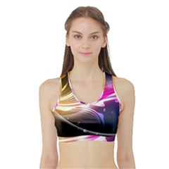 545 Patterns Lines Flying  Sports Bra With Border