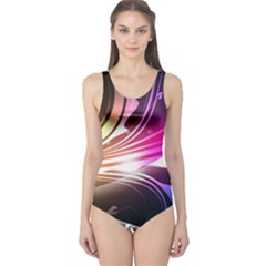 545 Patterns Lines Flying  One Piece Swimsuit