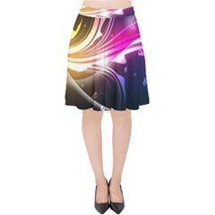 545 Patterns Lines Flying  Velvet High Waist Skirt