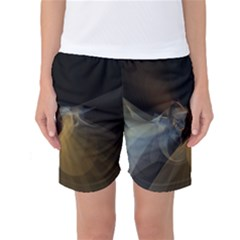 Background Blurred Lines Women s Basketball Shorts