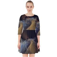 Background Blurred Lines Smock Dress