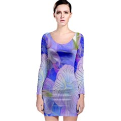 Flowers Abstract Colorful  Long Sleeve Bodycon Dress