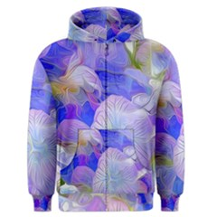 Flowers Abstract Colorful  Men s Zipper Hoodie