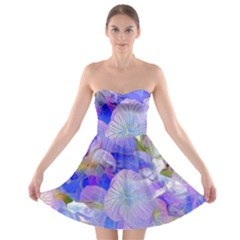 Flowers Abstract Colorful  Strapless Bra Top Dress