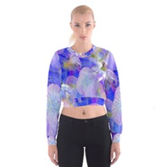 Flowers Abstract Colorful  Cropped Sweatshirt